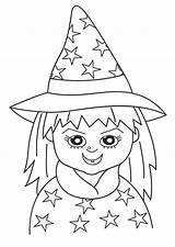 Witch Crayola Coloringsun sketch template
