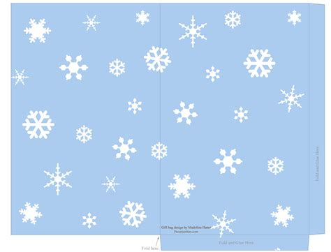 small snowflake template free printable templates snowflake gift tags treat and mini carrier bags pecuniarities