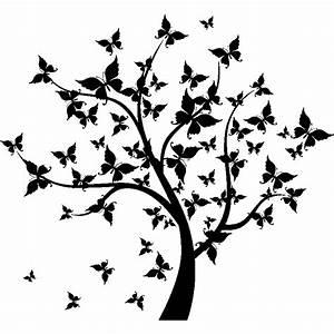 Stickers Arbre Noir : sticker arbre papillons stickers nature arbres ambiance sticker ~ Teatrodelosmanantiales.com Idées de Décoration