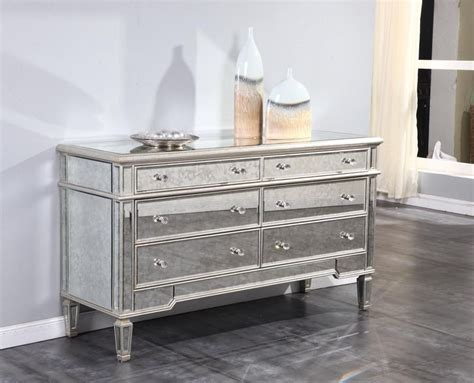 Mirrored Console Buffet Cabinet Dresser Quality Dining Or