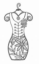 Steampunk Digi Mini Coloring Stamps Adult Bearywishes Colouring Designs Corset Form Printable Digital Template Patterns Ladies Doodle Patrol Preston Metal sketch template