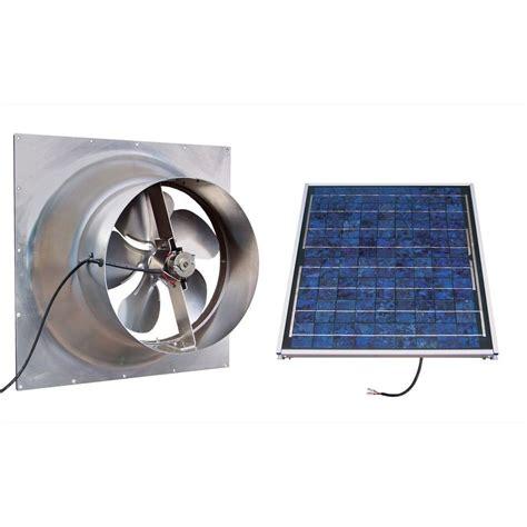 solar powered home fans gable 20 watt solar powered attic fan safg20 ss the home