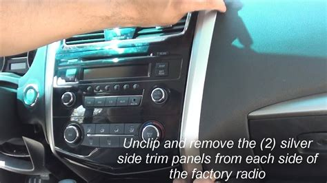 remove factory stereo altima   youtube