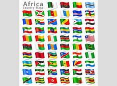 Vector African National Flag Set Stock Illustration