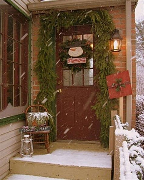 Best Colonial Christmas Homes Outdoors Images