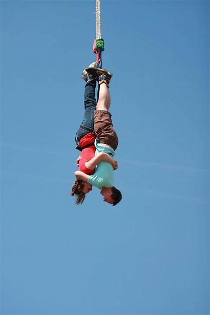 Jumping Bungee Upside Down Agreed Fight Ll