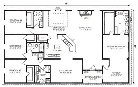 4 bedroom ranch floor plans ranch house floor plans 4 bedroom for the home pinterest