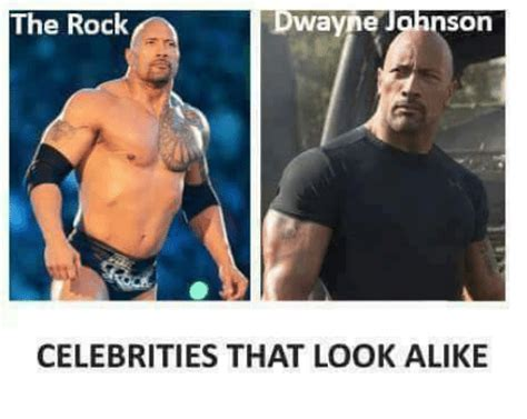 The Rock Memes - funny look alike memes of 2017 on sizzle that look