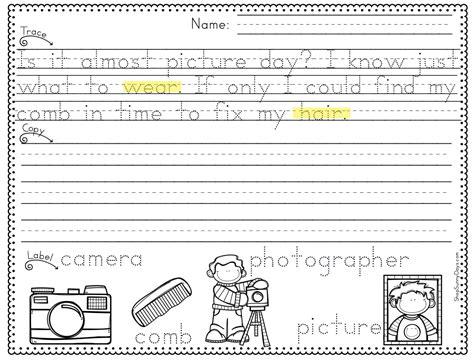 working handwriting into your literacy block days