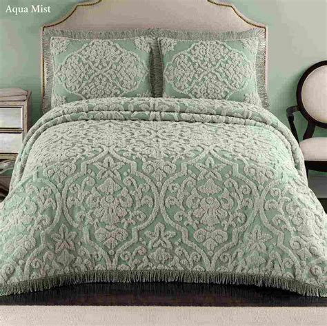 turquoise bedding vintage chenille bedspreads ideasdecor ideas