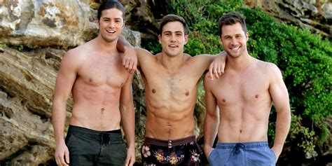 neighbours brennan brothers strip off for beach photoshoot
