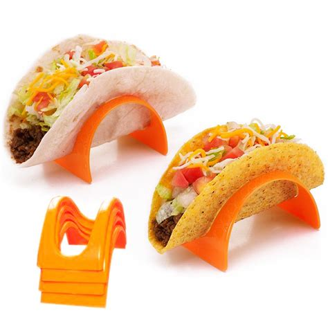 pc taco stands tortilla shell fajita holder rack stand dinner table kids party
