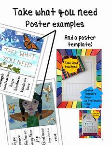 take what you need posters and template english or With take what you need template