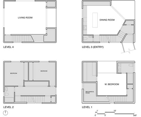 home architect plans gallery of tower house benjamin waechter architect 9