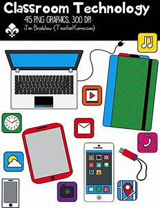 Classroom Technology Clipart ~ Commercial Use OK | Other ...