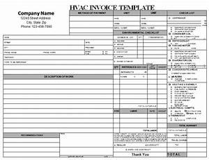 18 free hvac invoice templates demplates for Ac repair invoice template