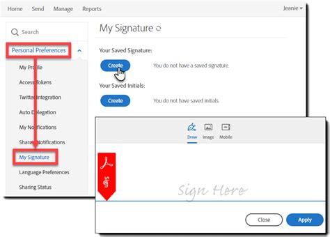 set   manage  signature