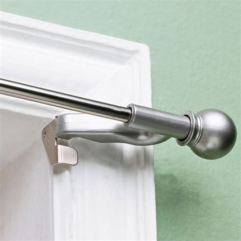 curtain rods twist and fit decorative curtain rod satin nickel 7 16