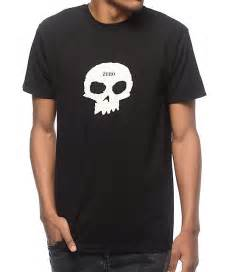 zero single skull black t shirt zumiez