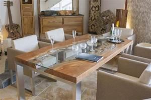Esstisch Glas Holz : esstisch holz glas m bel ideen 2018 ~ Whattoseeinmadrid.com Haus und Dekorationen