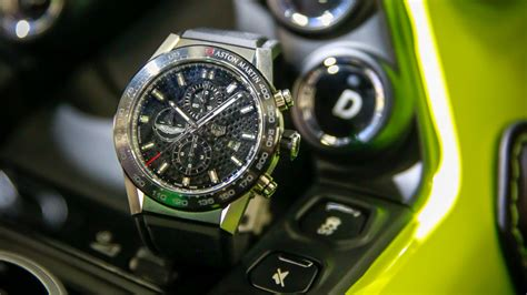 tag heuer timepieces honor official partnership  aston