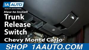 How To Install Replace Trunk Release Switch 2000