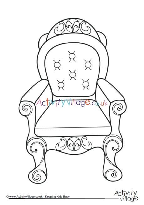 throne colouring page