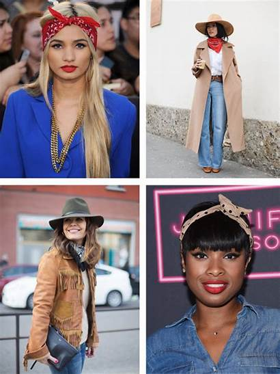 Bandana Outfit Ways Tie Headscarf Accessories Inspiration
