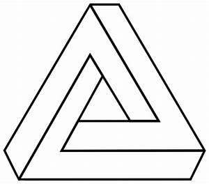 Penrose triangle outline - /signs_symbol/optical_illusions ...