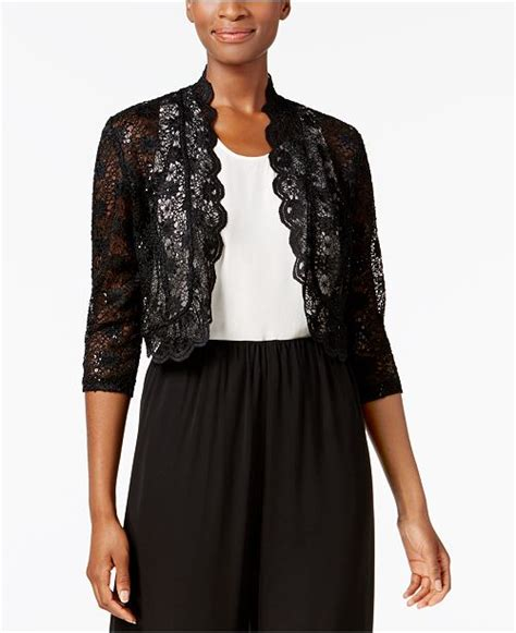 richards rm richards scalloped sequin lace bolero reviews sweaters women macys