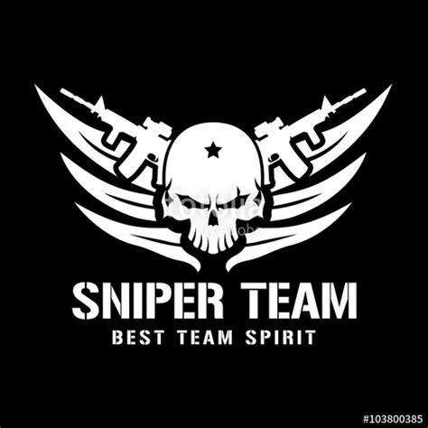 sniper team logoskull logotattoo logovector logo