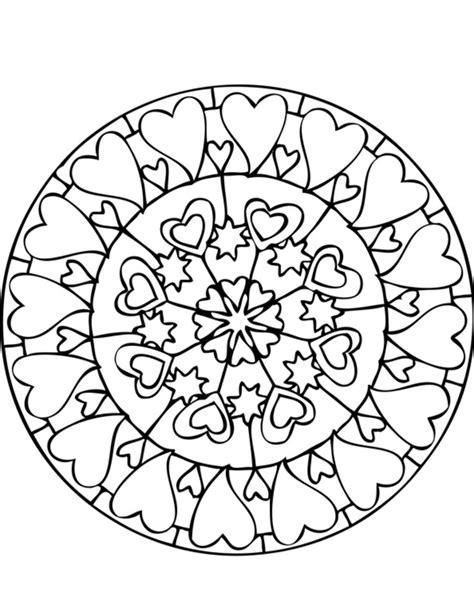 print mandala coloring pages lots  hearts