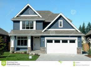 Image Of New Home by Blue House Home New Stock Images Image 30126974