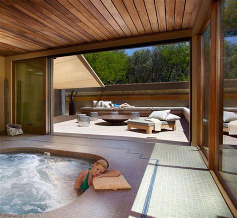 Indoor Outdoor Space At Miraval Resort & Spa  Hot Tub