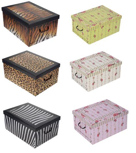 Decorative Uk by Buy 3 Get 1 Free Decorative Cardboard Storage Box Bedroom
