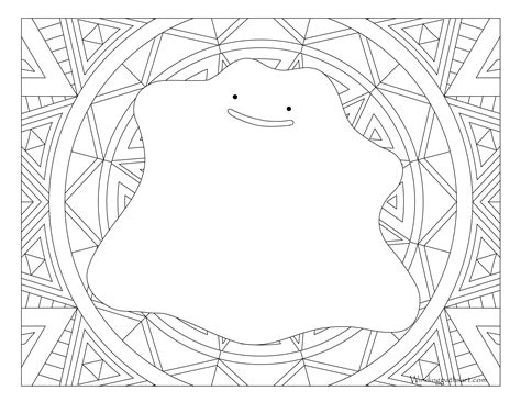 ditto pokemon coloring pages sketch coloring page