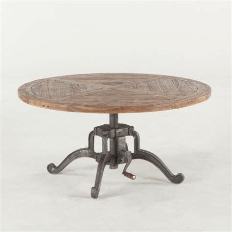 round industrial coffee table industrial round coffee table recycled wood iron