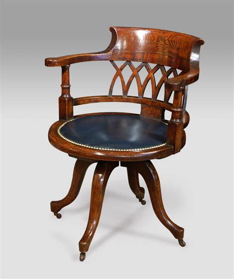 antique wooden desk chair antique office chair captains chair swivelling chair