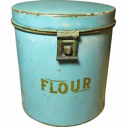 Farmhouse Kitchen Metal Bin Flour Granny Ruby