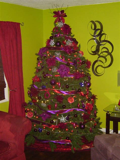 best colors for christmas tree decorations purple christmas tree 12 bad christmas decorations bob vila