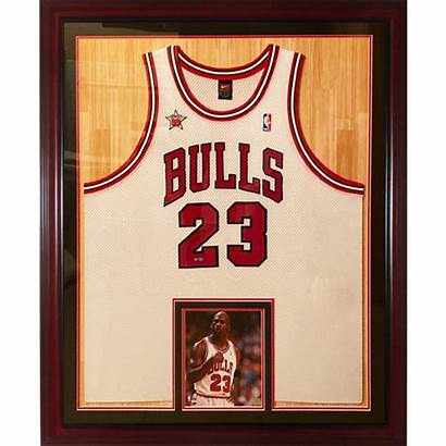 Jordan Jersey Framed Michael Bulls Chicago Uda
