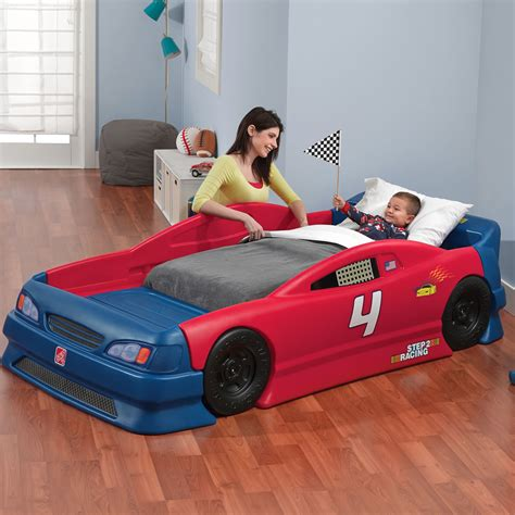 stock car convertible bed kids bed step