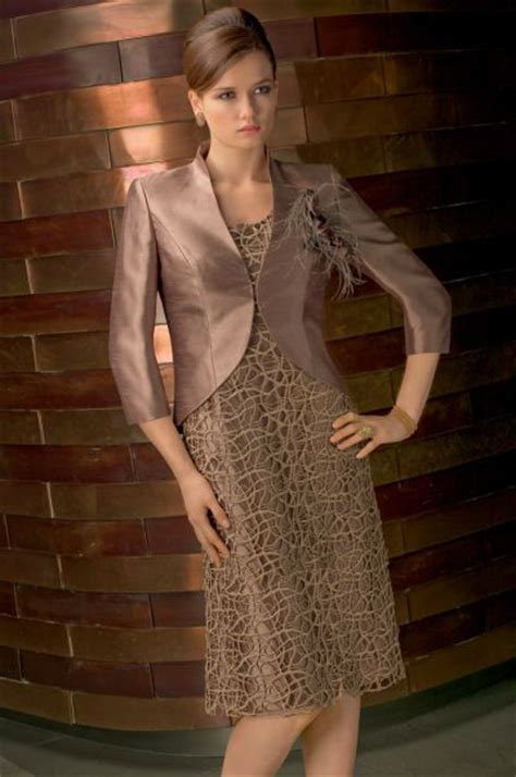 VM Collection Lace Shantung Short Mothers Dress and Jacket