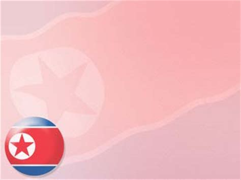 korea north flag  powerpoint templates