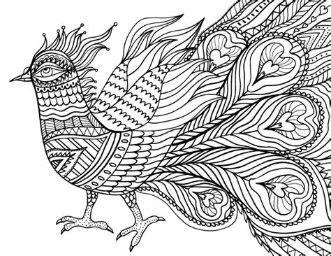 abstract bird adult coloring page