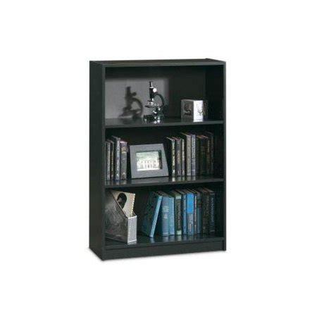Sauder Black Bookcase by Sauder 3 Shelf Bookcase Matte Black Walmart