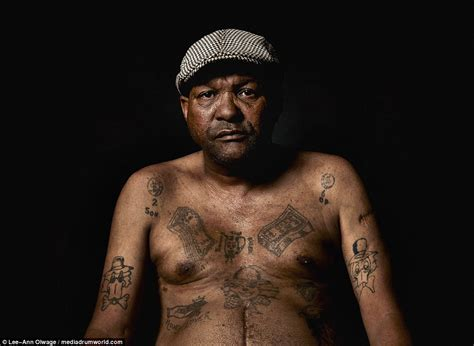 South African Ex-gang Members Show Their Tattoos