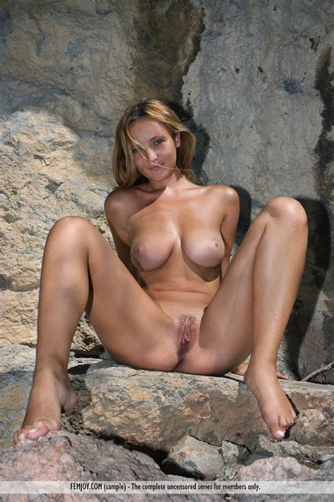 Gorgeous Busty Blonde Dasha M Has Naked Outdoor Fun Making Softcore Porn In The Woods