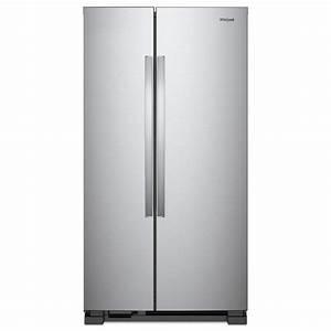 Whirlpool 36 inW 25 07 cuftSide by Side Refrigerator
