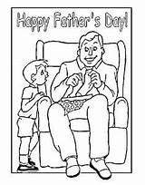 Coloring Pages Father Fathers Happy Printables Dad Birthday Crafts Printable Cards Husband Fishing Dads Homemade Colouring Craft Gifts Card Grandpa sketch template